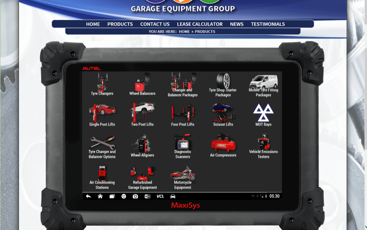 Garage Equipment Online Products - Before